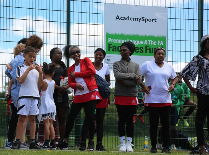 Spectators at the 2019 Windrush Day Sports Day in Reading, UK.