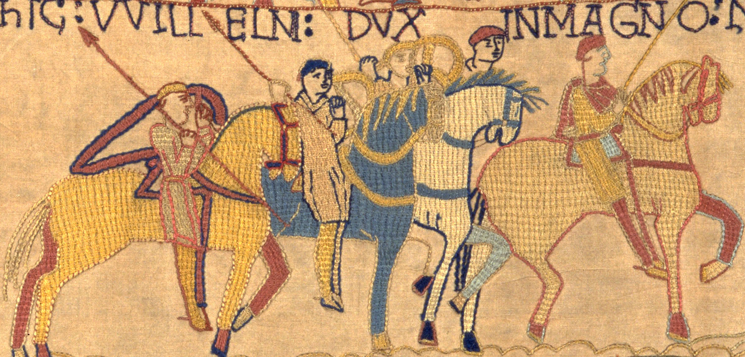 An image of Norman soldiers in our replica Bayeux Tapestry.