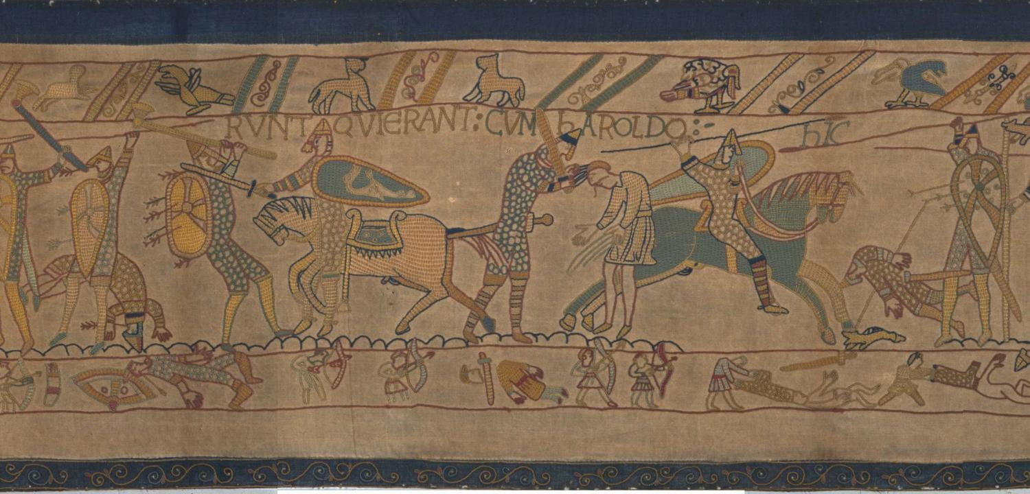 The death of Harold at the Battle of Hastings
