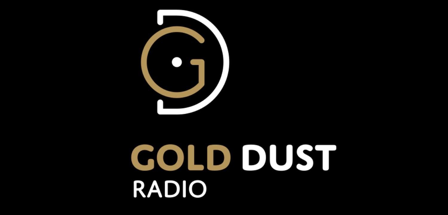 The logo for Gold Dust radio.