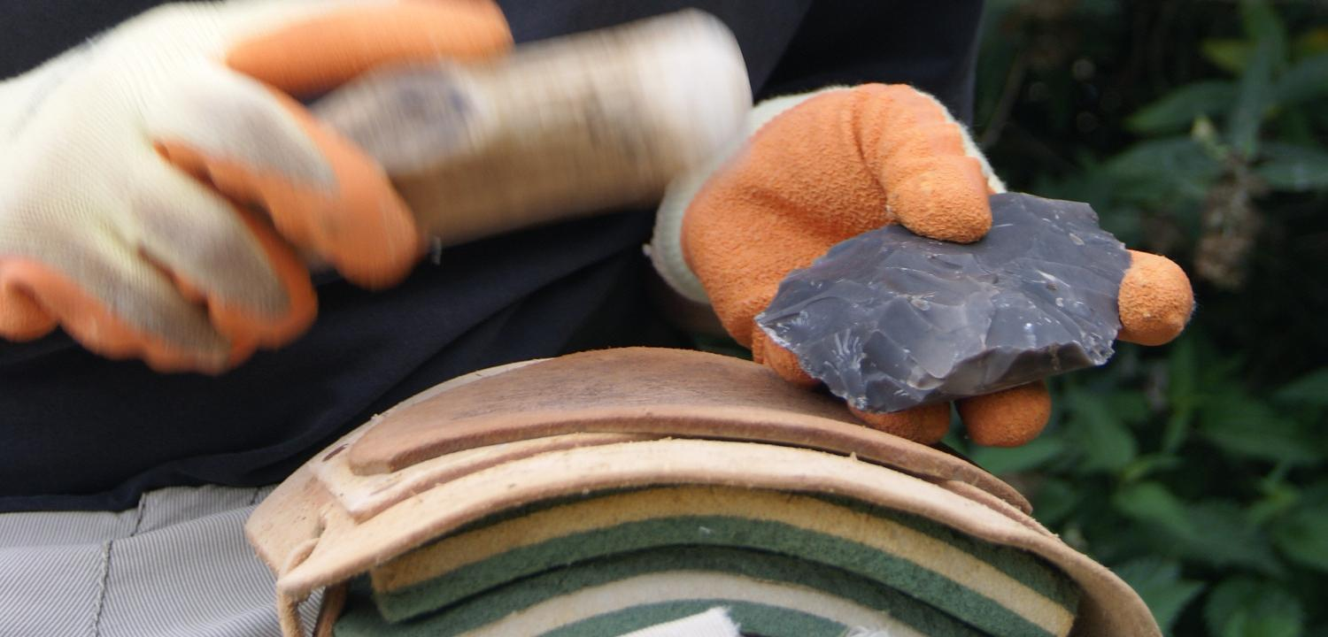 Flint knapping demonstration