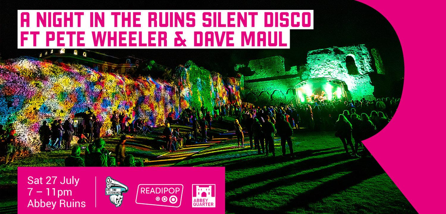 Night in Ruins - Silent Disco Poster