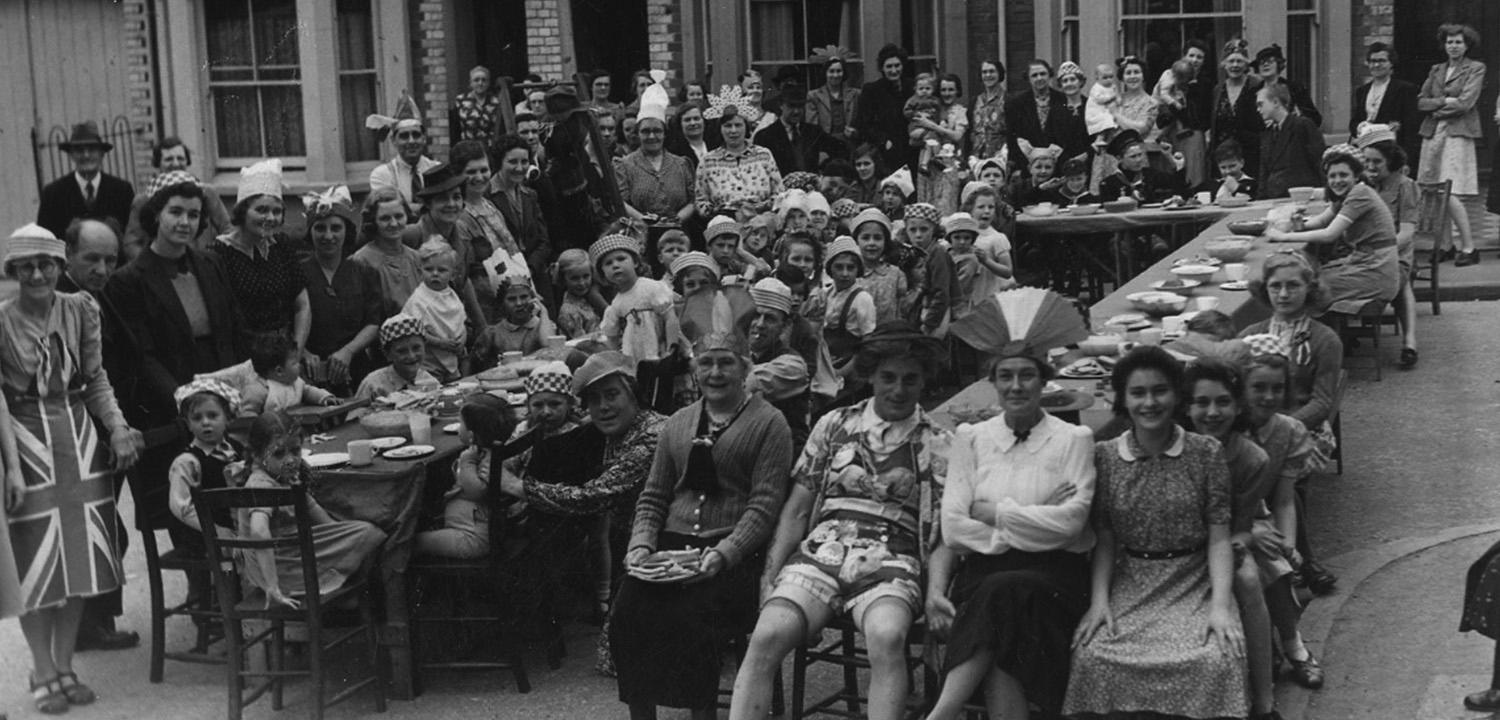 A Reading street party for VE Day in May 1945