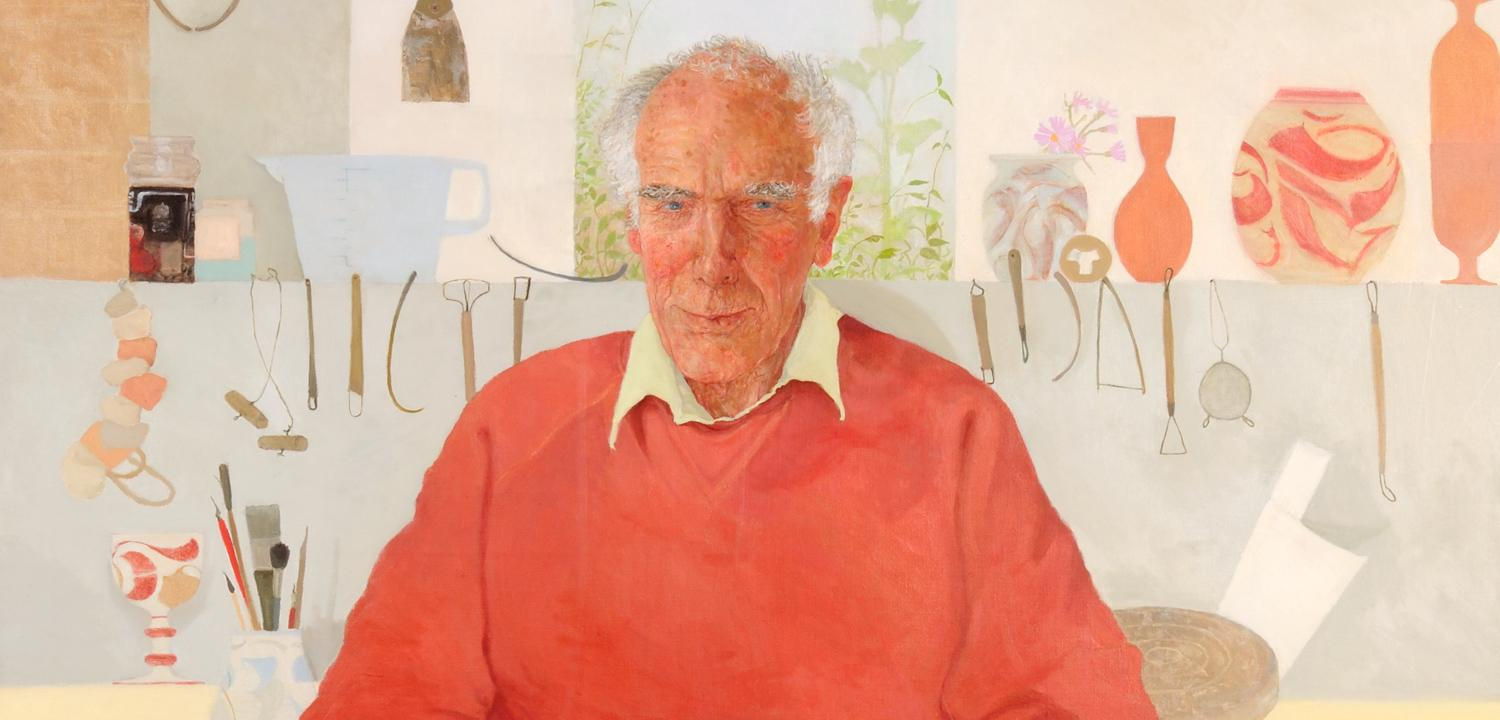 Alan Caiger-Smith painted by Jennifer McRae in 2002