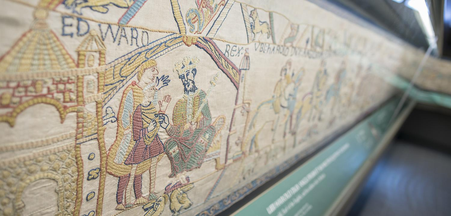 Part of Reading's Bayeux Tapestry