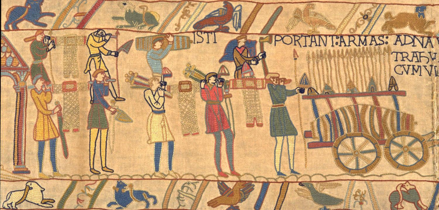 Image from our replica Bayeux Tapestry.