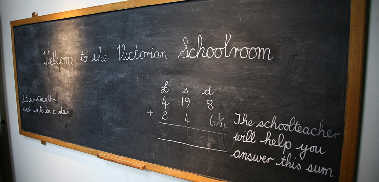 Blackboard in Victorian Schoolroom