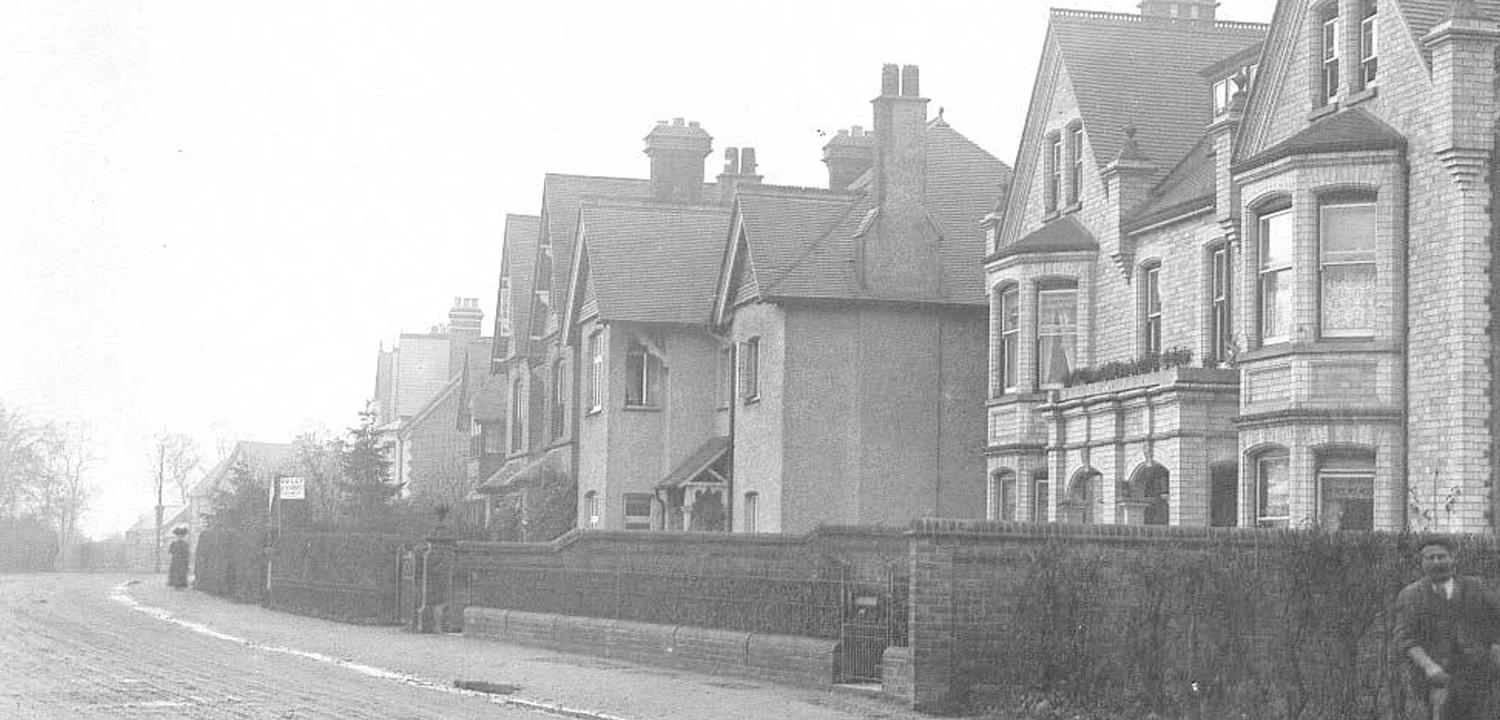 An image of Clara Herbert's home on Sidmouth Street.