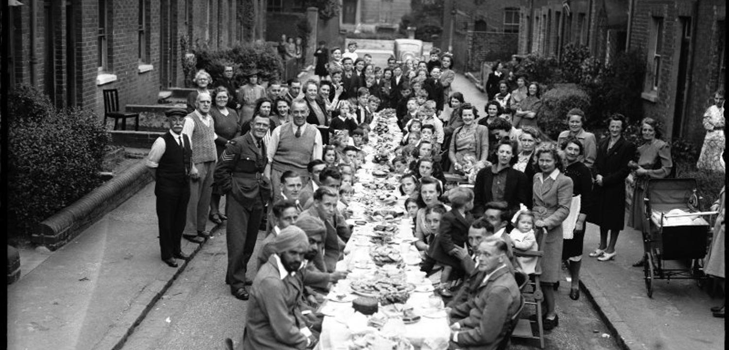 Victory Day Party, Eldon Street, Reading, May 1945