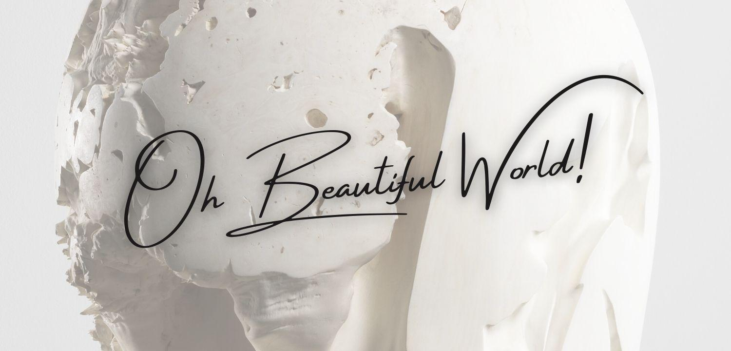 Oh Beautiful World! blog cover header.