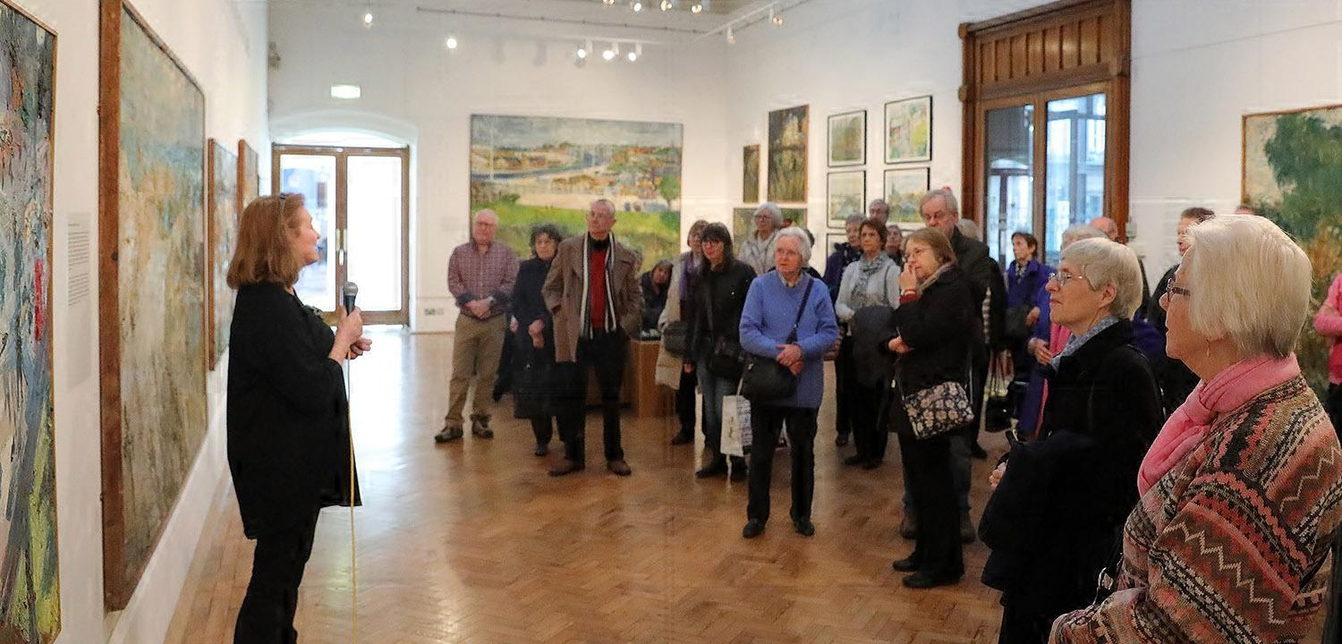 Curatorial talk at a Friends of Reading Museum event