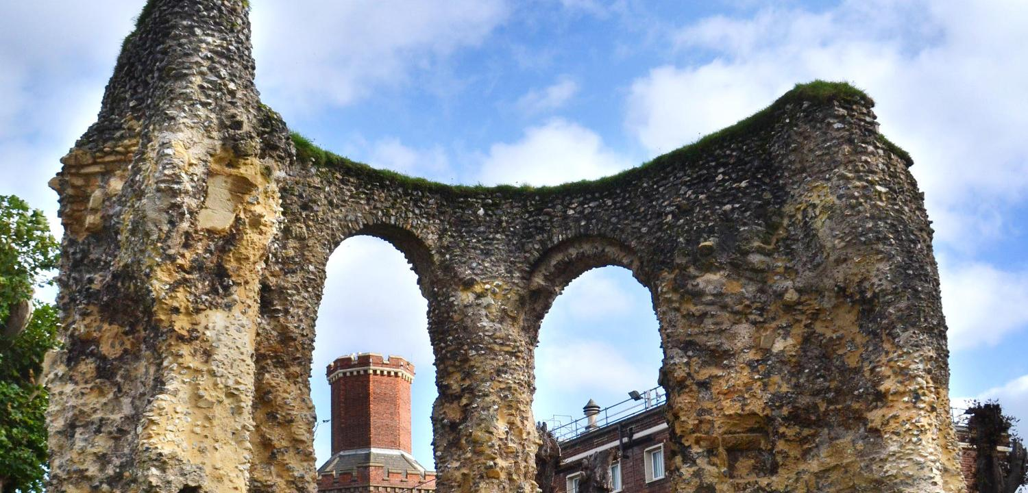 South transept chapels of Reading Abbey ruins