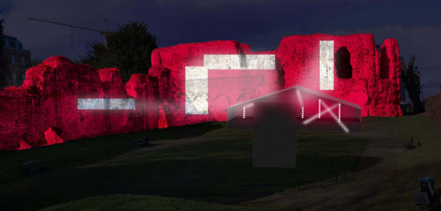 Stuart Melrose concept art for Reading Abbey light installation
