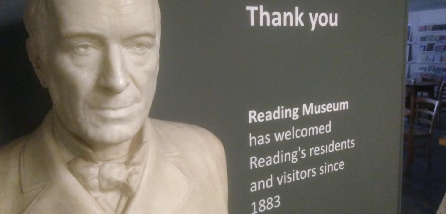 Reading Museum thank you sign