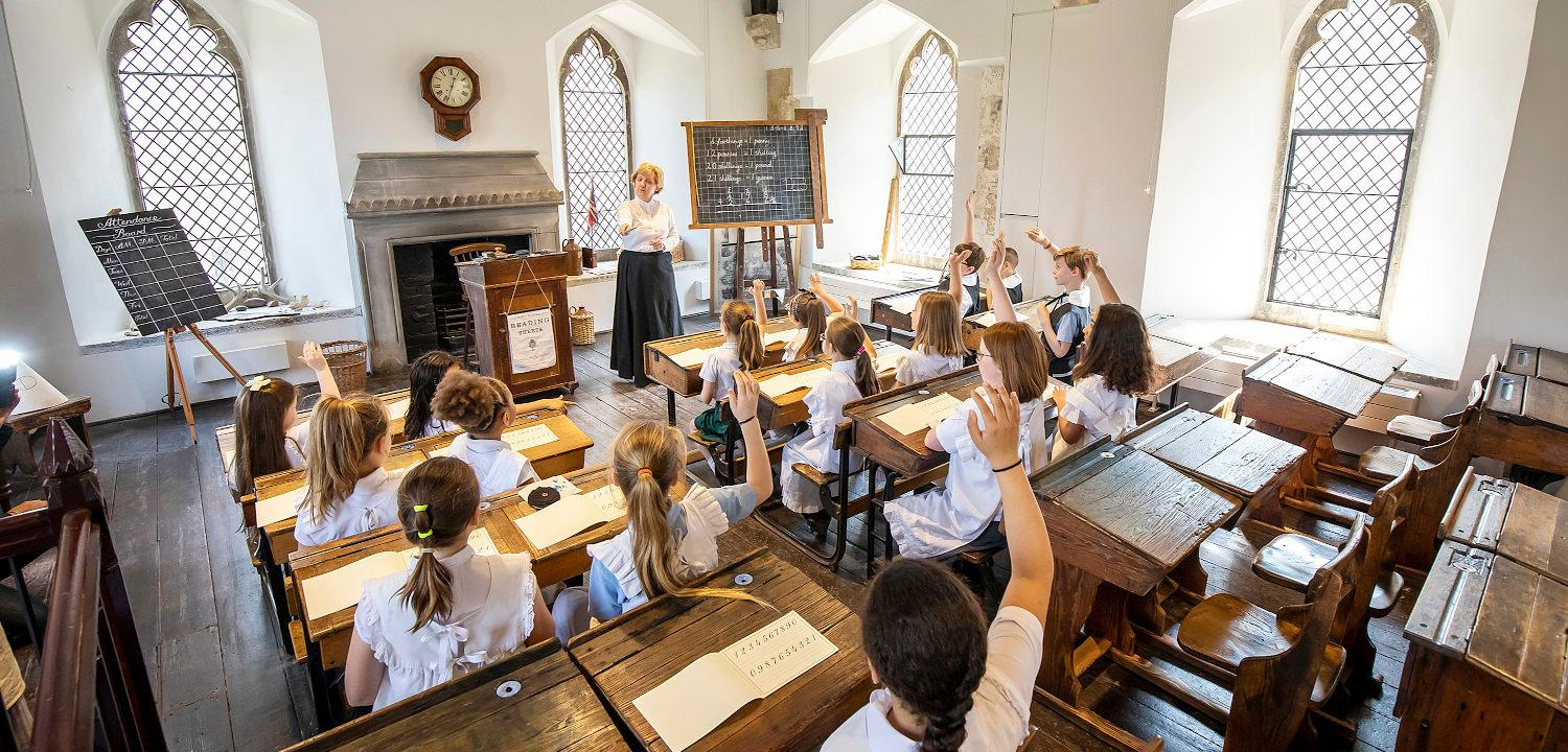 Victorian schoolroom at the Abbey Gateway