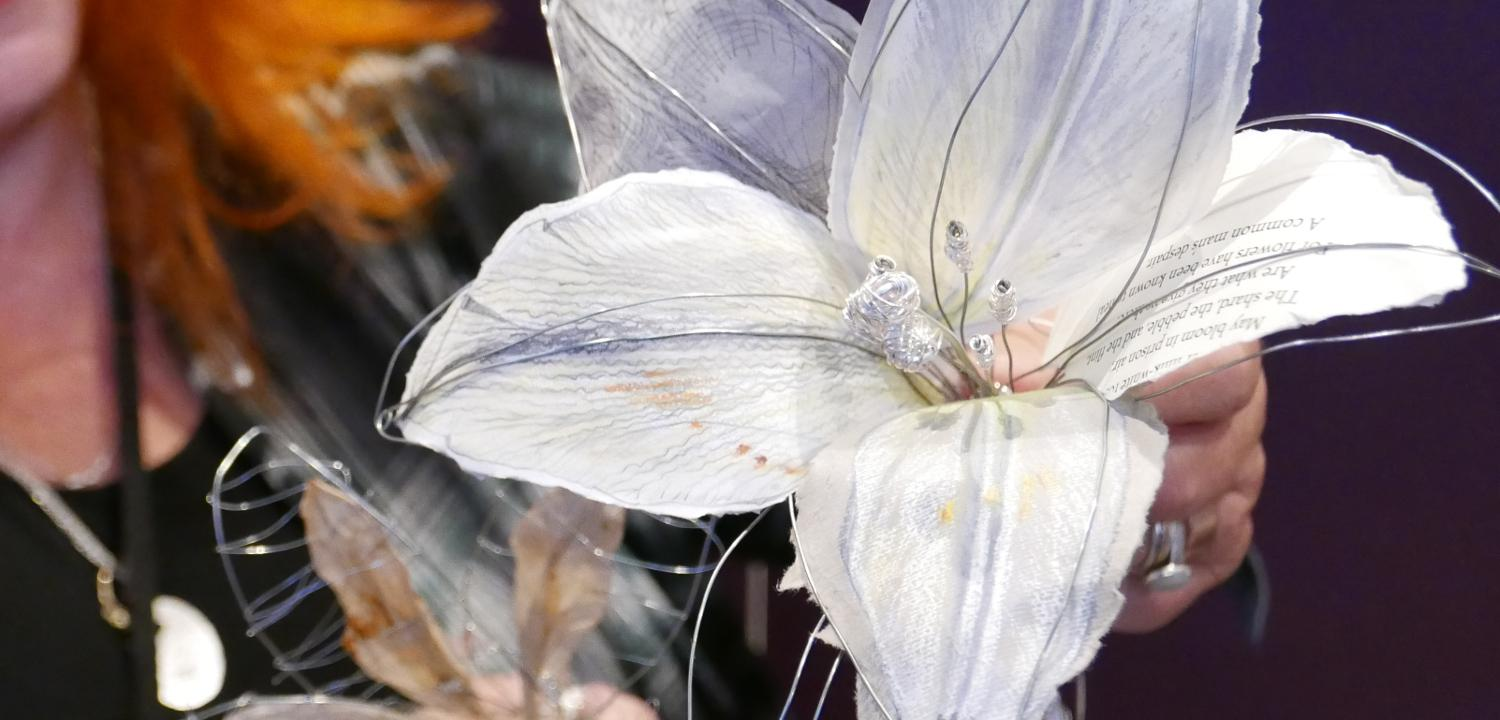 A lily created for an installation in tribute to Oscar Wilde.