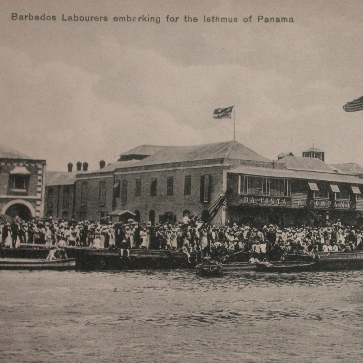 Labourers leaving for Panama (BMHS collection)