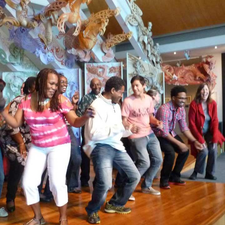 Photo of Caribbean community at Te-Papa-Museum.