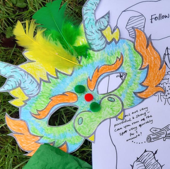 Dragon Mask and Map