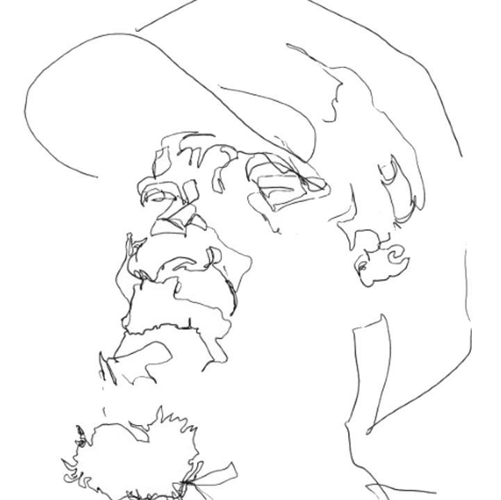 Line drawings of people