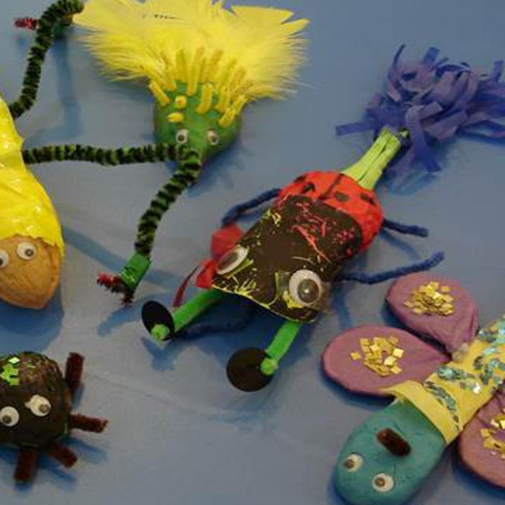 Spoons decorated to look like creatures