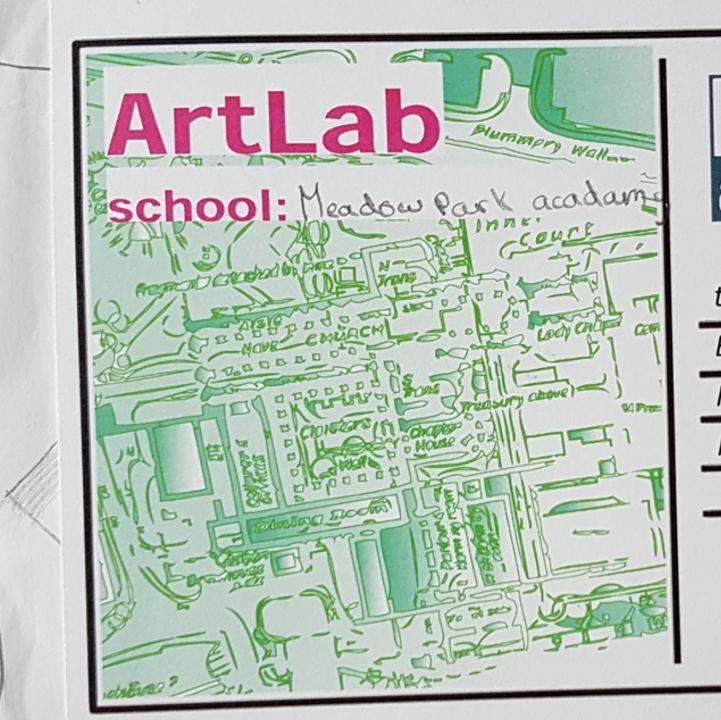 Artlab postcard