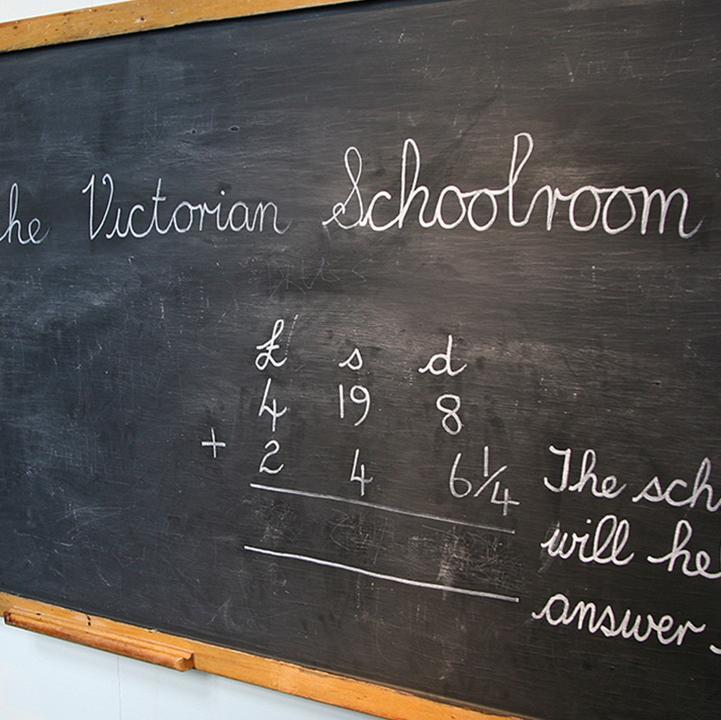 Blackboard in Victorian Schoolroom