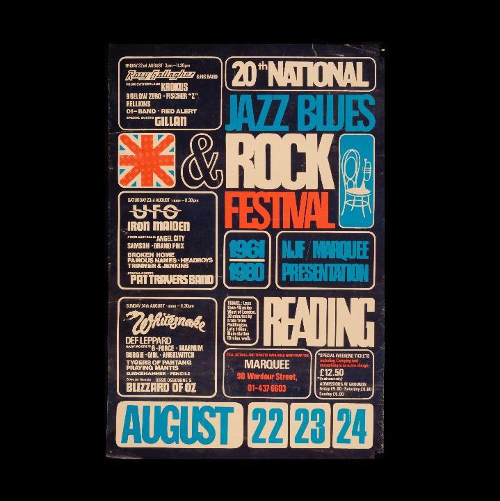Reading Festival poster 1980