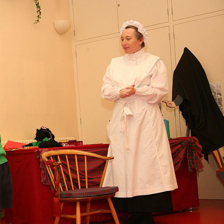 Children enjoying a Victorian christmas activity
