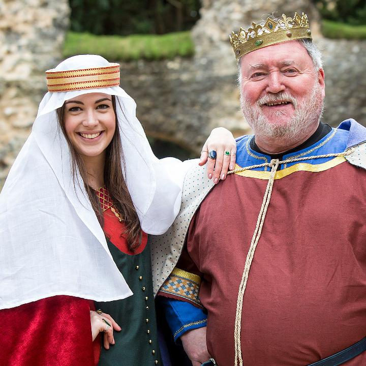 Re-enactors of King Henry I and Empress Matilda in the Reading Abbey Ruins