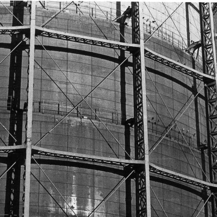 gas holder, Newtown by Mary Jane Jones, 1996