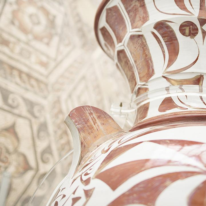 Vase and mosaics