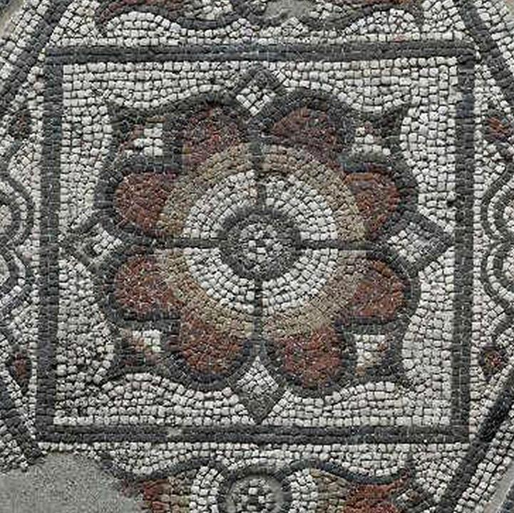 A detail from a mosaic at Silchester.