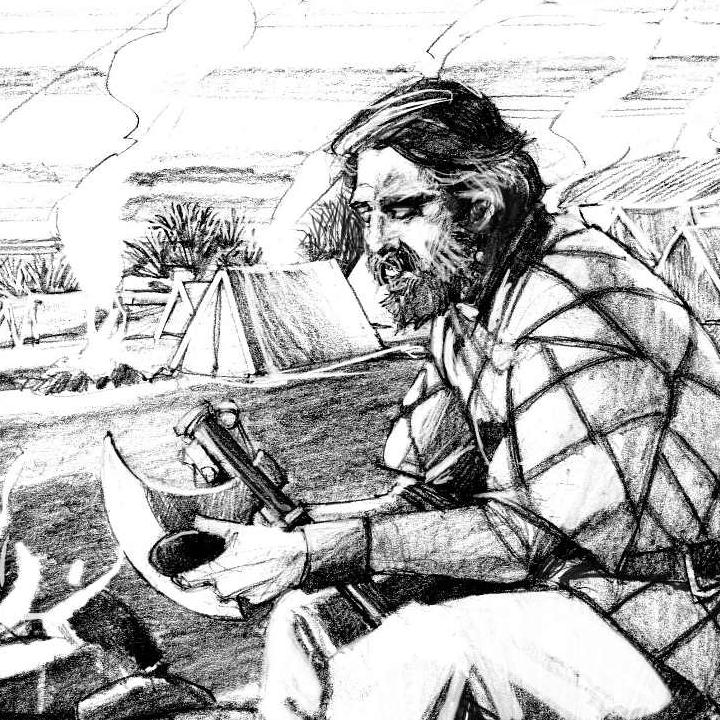 Reconstruction of the Viking camp at Reading in AD 870-871