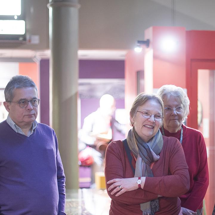 Volunteers at the museum