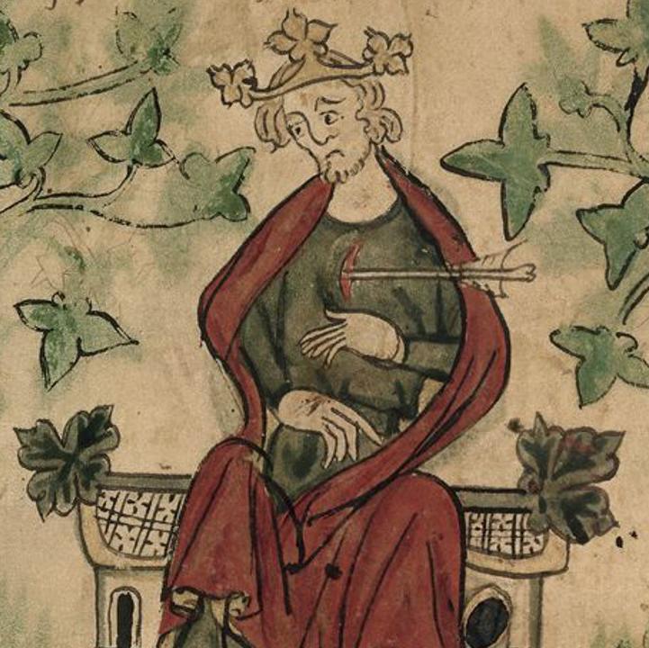 William Rufus struck by an arrow.