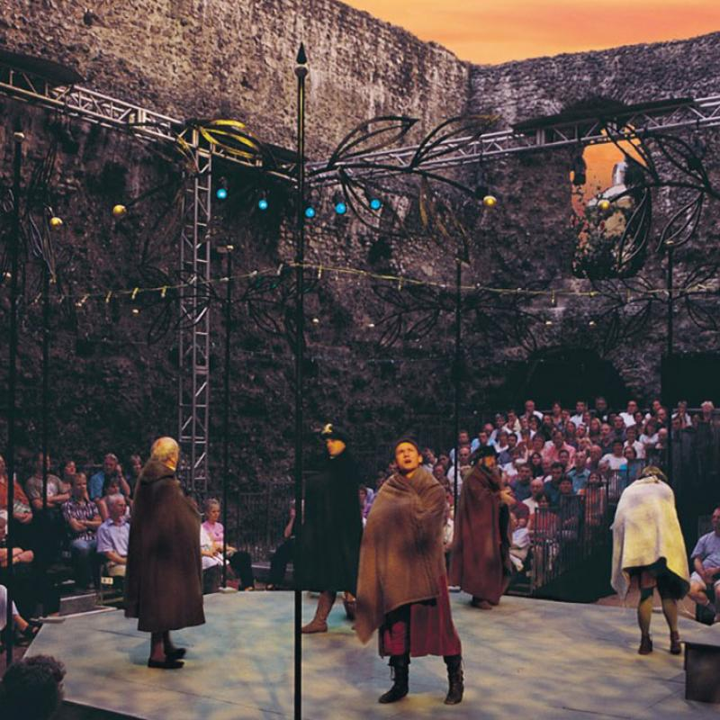 Shakespeare performed in the Reading Abbey Ruins.