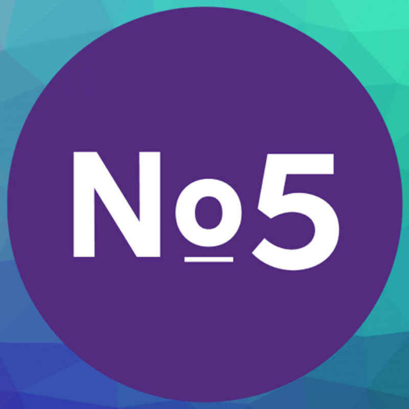 No5 logo for the 50th anniversary display.