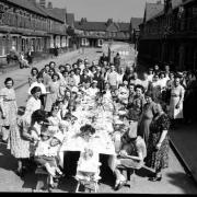 VE Day party at Catherine Street, Reading