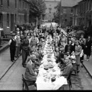 VE Day party at Eldon Road, Reading