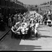 VE Day party at Foxhill Road, Reading