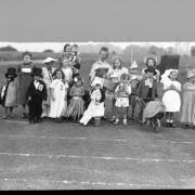 VE Day fancy dress at Norcot Road, Reading