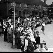 VE Day party at Torrington Road, Reading