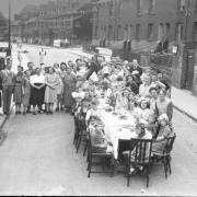 VE Day party at Wolseley Road, Coley