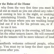 Remember the Rules of the House