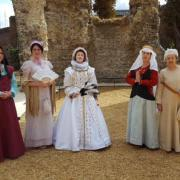Costumed Interpreters Volunteers in Reading Abbey Ruins