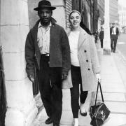 Interracial Couple: 1st September 1958: Maj-Britt Morrison leaves the West London Police Court with her husband Raymond, having been charged with obstruction during the Notting Hill race riot (Photo by Keystone/Hulton Archive/Getty Images)