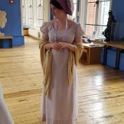 Jane Austen costumed interpreter volunteer