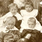 Victorian children in a school photo