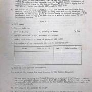 Application form for UK Entry Certificates (WIFAC Collection)